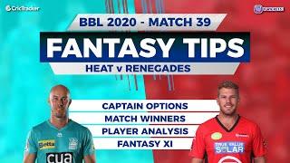 BBL, 39th Match, 11Wickets Team, Melbourne Renegades vs Brisbane Heat, Full Team Analysis
