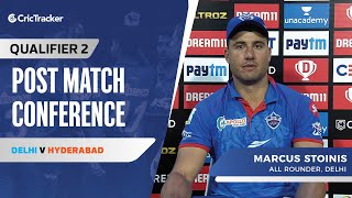 Marcus Stoinis opens up on Delhi's win in the second qualifier and their plans against Hyderabad