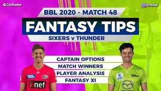BBL, 48th Match, 11Wickets Team, Sydney Sixers vs Sydney Thunder, Full Team Analysis