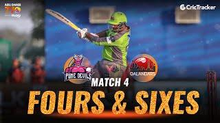 Match 4 - Pune Devils vs Qalandars, Fours and Sixes, Abu Dhabi T10 League 2021