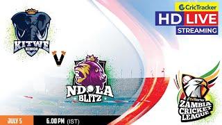 Zambia T10 League Live Streaming, Match 8, Kitwe Kings vs Ndola Blitz