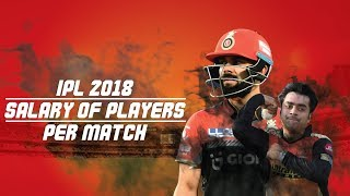 IPL 2018: Salary of players per match