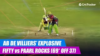 MSL 2019: AB de Villiers' explosive half-century vs Paarl Rocks