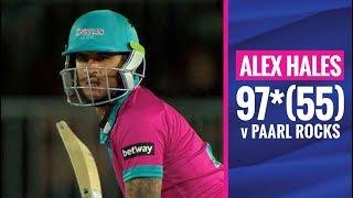 MSL 2019: Alex Hales' explosive innings of 97* vs Paarl Rocks
