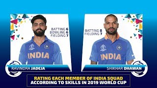 Rating each member of India WC 2019 squad according to skills