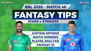 BBL, 40th Match, 11Wickets Team, Adelaide Strikers vs Melbourne Stars, Full Team Analysis