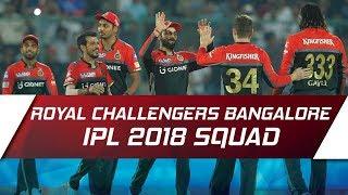 IPL 2018: Royal Challengers Bangalore updated squad