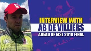 MSL 2019: Interview with AB de Villiers ahead of finals
