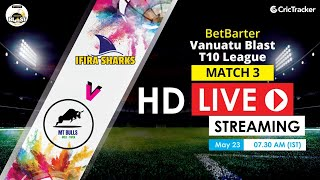 Vanuatu Blast T10 League 2020 Live Streaming: 3rd Match Ifira Sharks vs MT Bulls