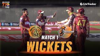 Match 1- Maratha Arabians vs Northern Warriors, Fall Of Wickets, Abu Dhabi T10 Leauge 2021