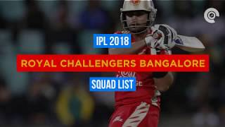 IPL 2018: RCB Full Squad