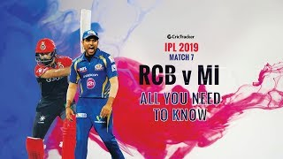 IPL 2019: Match 7, Royal Challengers Banglore (RCB) vs Mumbai Indians (MI): All You Need To Know