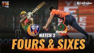 Match 3 - Delhi Bulls vs Bangla Tigers, Fours & Sixes, Abu Dhabi T10 League 2021