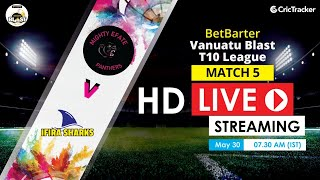 Vanuatu Blast T10 League 2020 Live Streaming : 5th Match Mighty Efate Panthers vs Ifira Sharks
