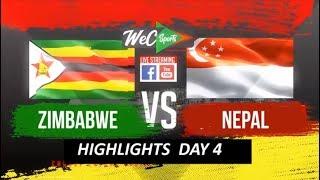 InstaReM Singapore Tri-Series, Match 4: Zimbabwe vs Nepal Highlights