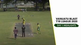 Vanuatu Blast T10 League 2020: Day 1 – Round Up