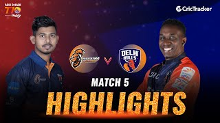 Match 5 Highlights - Maratha Arabians vs Delhi Bulls, Abu Dhabi T10 League 2021