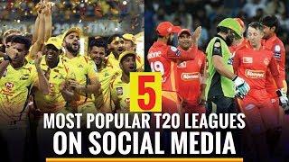 5 Most popular T20 leagues on social media
