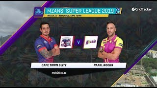 Highlights | Cape Town Blitz vs Paarl Rocks | Match 15 | MSL 2019