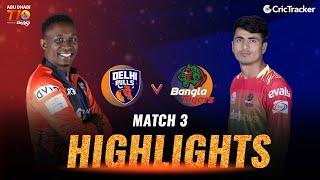Match 3 Highlights - Delhi Bulls vs Bangla Tigers, Abu Dhabi T10 leauge 2021