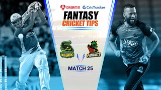 CPL 2020 Dream11 Tips | Match 25, Jamaica Tallawahs vs St Kitts and Nevis Dream11 | CricTracker