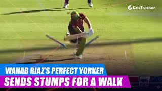 MSL 2019: Wahab Riaz's perfect yorker sends Roelof van der Merwe's stumps for a walk on a no-ball