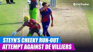 MSL 2019: Dale Steyn's cheeky run-out attempt against AB de Villiers