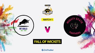 Vanuatu Blast T10 League |Match 1| Fall of wickets | MT bulls vs Mighty Efate Panthers |