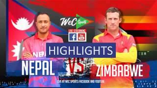 InstaReM Singapore Tri-Series, Match 1: Nepal vs Zimbabwe Highlights