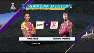 MSL 2019: Final, Paarl Rocks vs Tshwane Spartans, Highlights