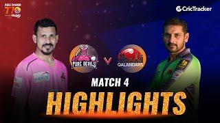 Match 4 Highlights - Pune Devils vs Qalandars, Abu Dhabi T10 League 2021
