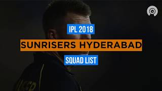 IPL 2018: SRH Full Squad
