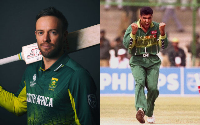 AB de Villiers and Waqar Younis