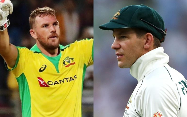 Aaron Finch and Tim Paine