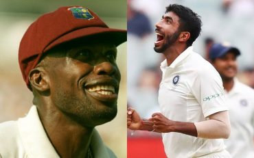 Curtly Ambrose and Jasprit Bumrah