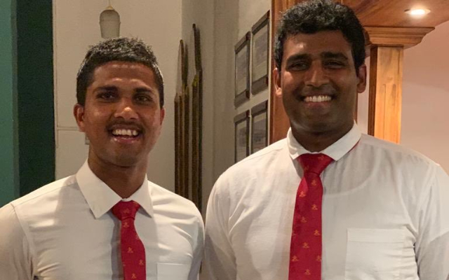 Dinesh Chandimal and Thisara Perera