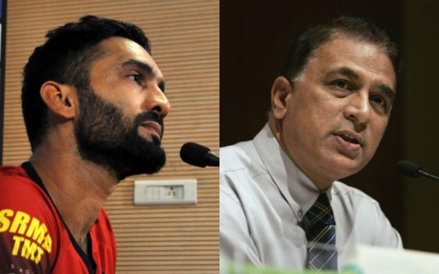 Dinesh Karthik and Sunil Gavaskar