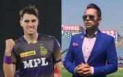 KKR's Pat Cummins and Aakash Chopra