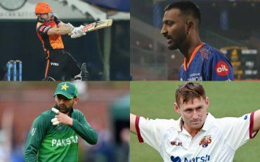 Kane Williamson, Krunal Pandya, Shoaib Malik, and Marnus Labuschagne