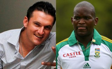 Lonwabo Tsotsobe and Graeme Smith