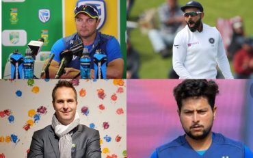 Mark Boucher, Virat Kohli, Michael Vaughan and Kuldeep Yadav