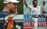 Michael Clarke, Prithvi Shaw, Wriddhiman Saha, and Virat Kohli
