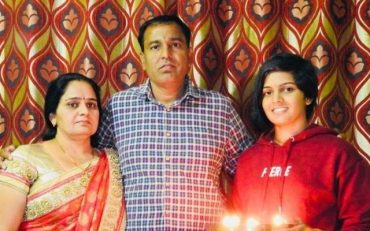 Priya Punia with her late mother & father