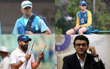 Rahul Dravid, Shaheen Afridi, Mohammed Shami, and Sourav Ganguly
