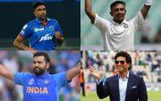 Ravichandran Ashwin, Prithvi Shaw, Rohit Sharma, and Sachin Tendulkar