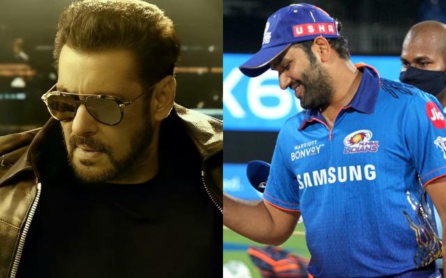 Salman Khan and Rohit Sharma