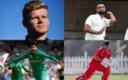 Sam Billings, Jaydev Unadkat, Mohammad Amir, and Ryan Burl