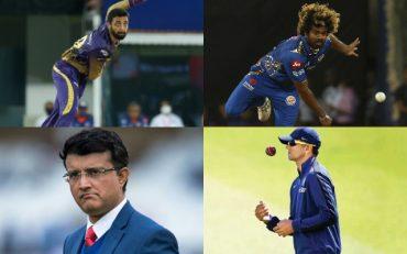 Varun Chakravarthy, Lasith Malinga, Sourav Ganguly, and Rahul Dravid