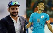 Virat Kohli and Sunil Chhetri