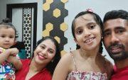 Wriddhiman Saha and family